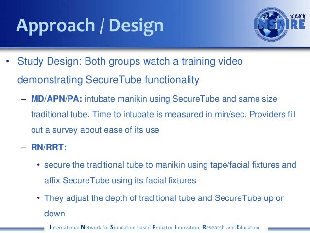 • Study Design: Both groups watch a training video demonstrating SecureTube functionality – MD/APN/PA: intubate manikin us...