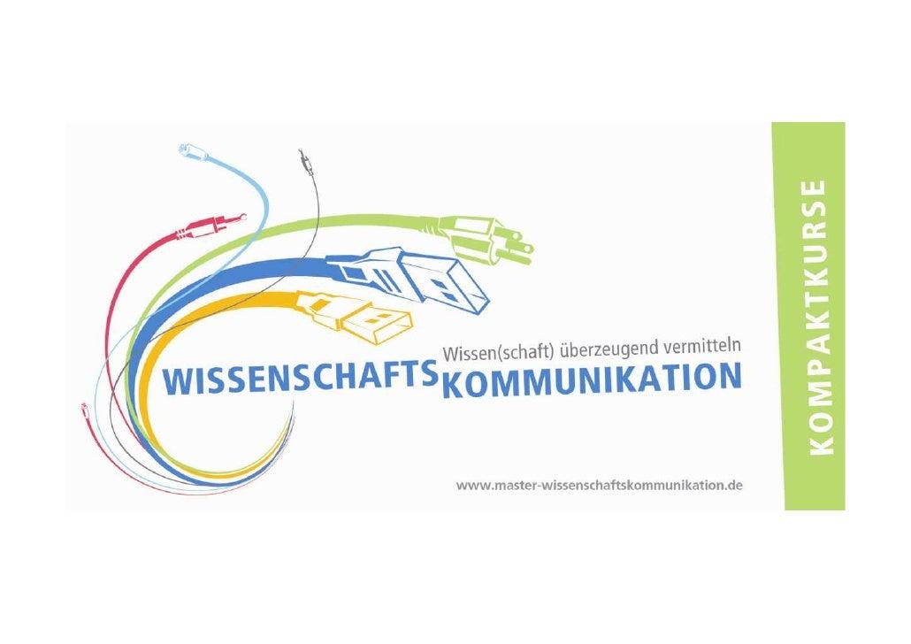 Kompaktkurse Wissenschaftskommunikation