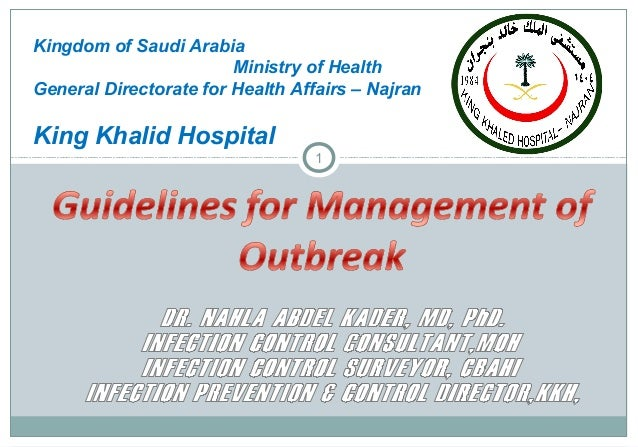 Guidelines for Management of Outbreak in Healthcare Organization