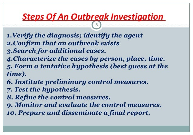 3 2 potential impact of an outbreak of infection Role of the microbiologist in infection control and  outbreak investigation  laboratory can alert infection control of potential outbreaks.