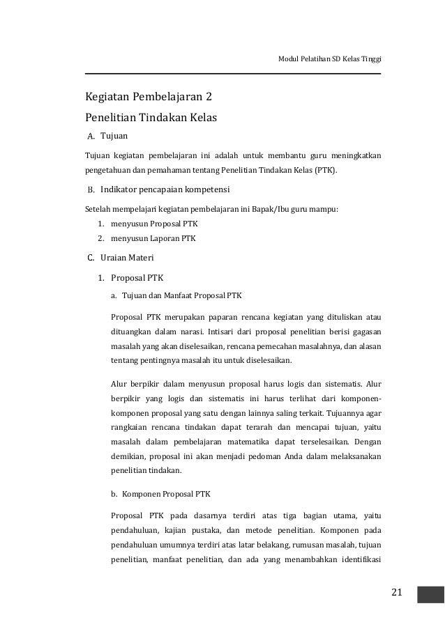 proposal ptk ips sd kelas 5