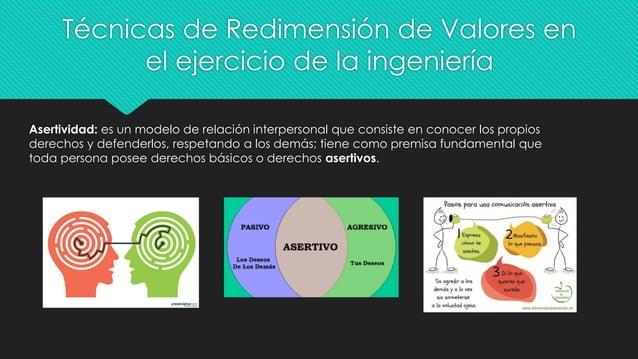 Técnicas de Redimensión de Valores en el ejercicio de la ingeniería Asertividad: es un modelo de relación interpersonal qu...