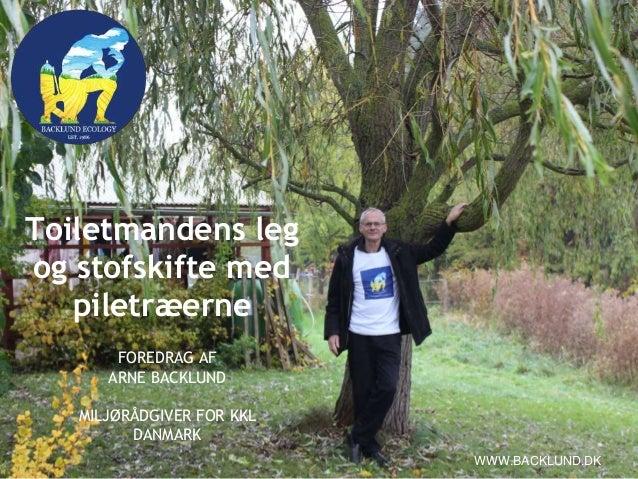 Toiletmandens leg og stofskifte med piletræerne FOREDRAG AF ARNE BACKLUND MILJØRÅDGIVER FOR KKL DANMARK WWW.BACKLUND.DK