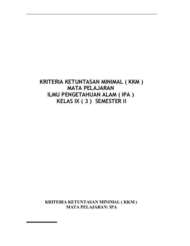 Kkm Ipa Smp Excel