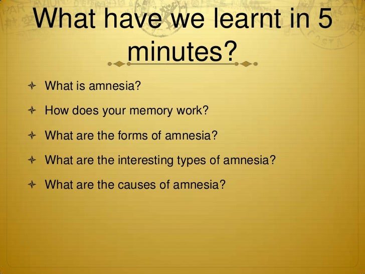 an essay on infantile amnesia This inability to form new memories is referred to as anterograde amnesia  but  returning to the house in which they spent their childhood or attending a school.