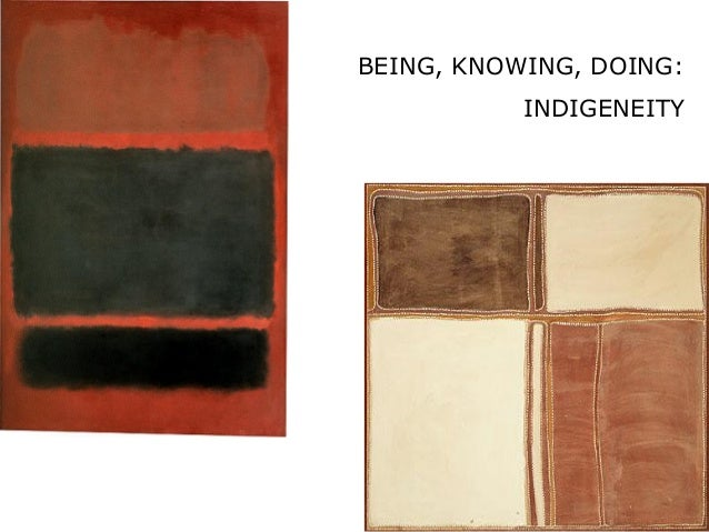 BEING, KNOWING, DOING: INDIGENEITY