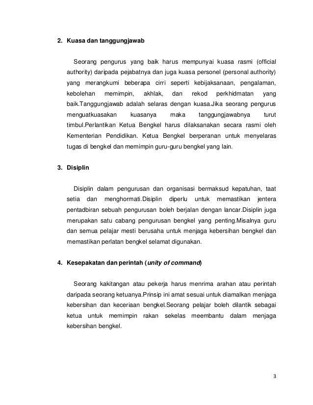 pengurusan dan keselamatan bengkel Slide 3