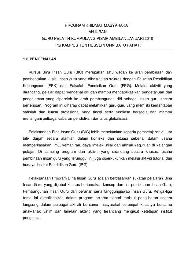 Contoh Laporan Program Khidmat Masyarakat Massagesoup