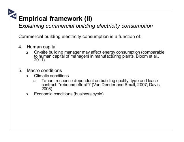 Commercial Building Electricity Consumption The Role Of