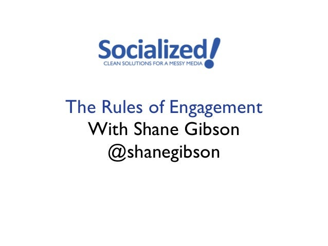 The Rules of Engagement  With Shane Gibson     @shanegibson