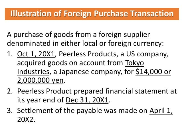 Foreign currency transaction definition