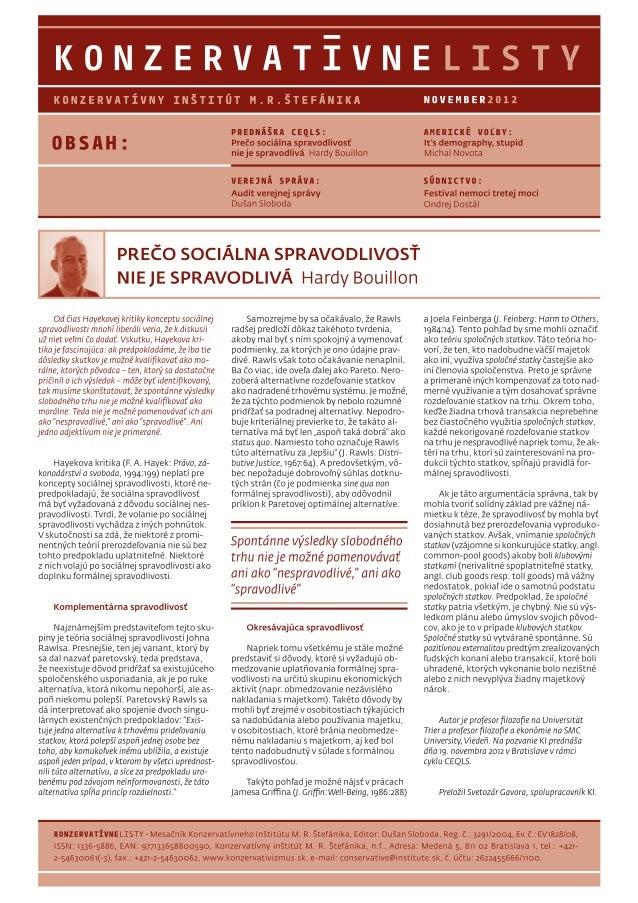 Konzervatívne listy /november 2012/