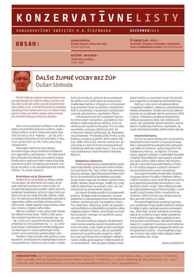 Konzervatívne listy /december 2013/