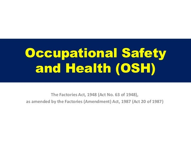 what is occupational health and safety pdf