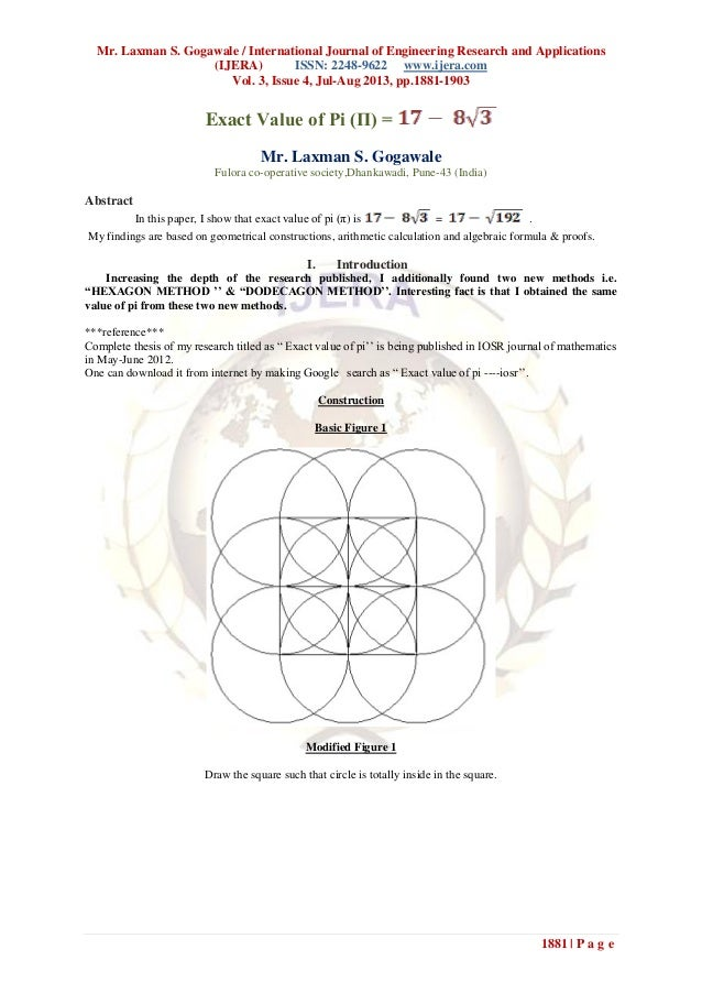 Mr. Laxman S. Gogawale / International Journal of Engineering Research and Applications (IJERA) ISSN: 2248-9622 www.ijera....