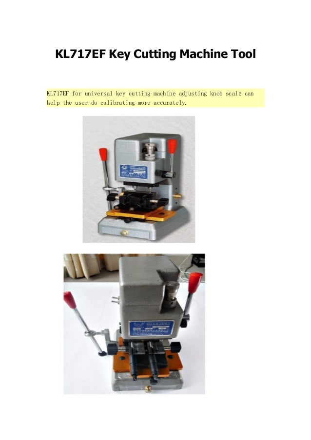 KL717EF Key Cutting Machine Tool  KL717EF for universal key cutting machine adjusting knob scale can help the user do cali...