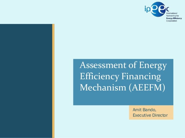 ExCo 05 // 20-22 September 2011  CEM02 February 15, 2011  Presentation  Assessment of Energy Efficiency Financing Mechani...