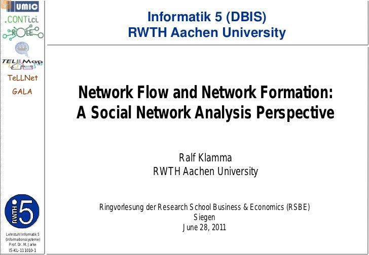 Informatik 5 (DBIS)                                    RWTH Aachen UniversityTeLLNet    GALA                         Netwo...