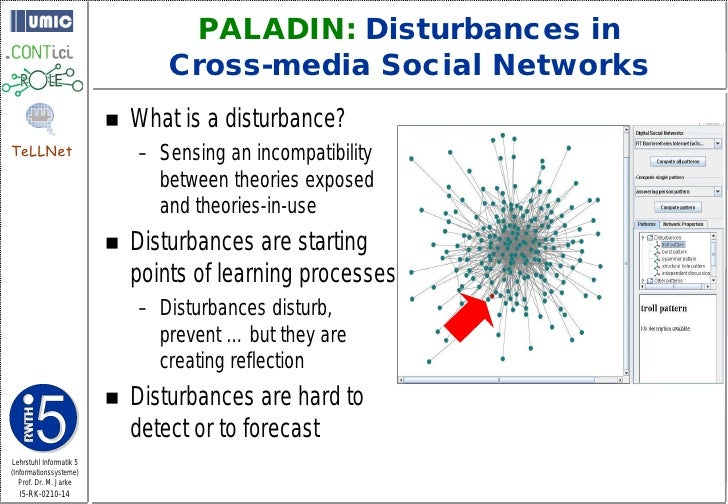 PALADIN: Disturbances in                                  Cross-media Social Networks                             What is...
