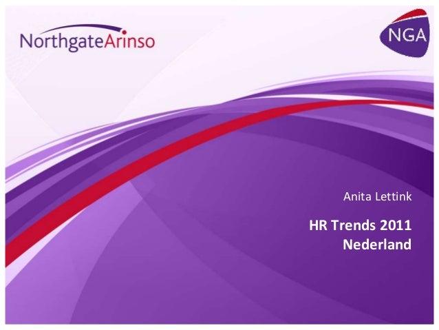 HR Trends 2011 Nederland Anita Lettink