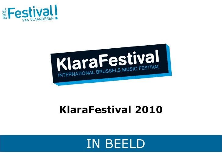 IN BEELD KlaraFestival 2010