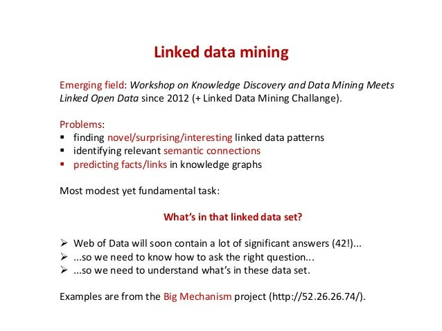 What makes a linked data pattern interesting?