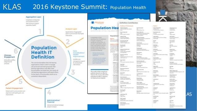 3 2016 Keystone Summit: Population Health