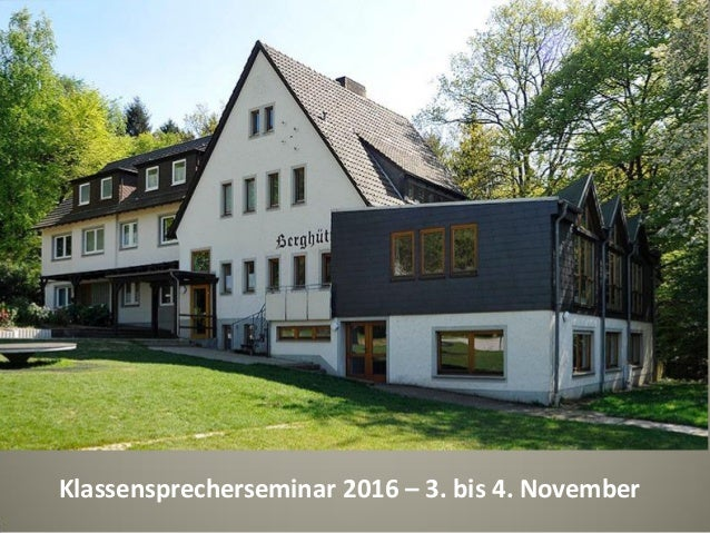 Fotoalbum von Hajo Klassensprecherseminar 2016 – 3. bis 4. November