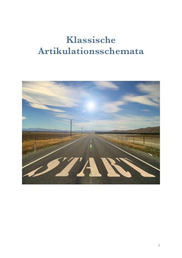 Klassische  Artikulationsschemata  !1