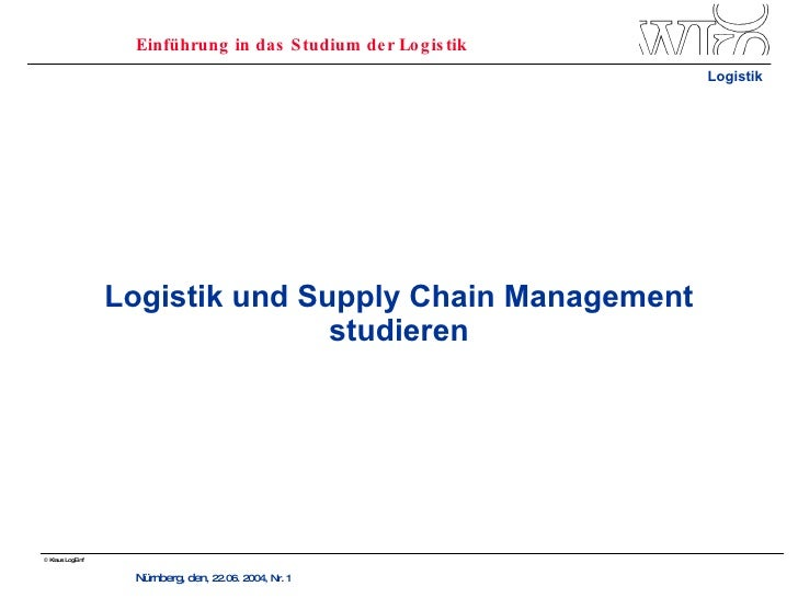 Logistik und Supply Chain Management studieren