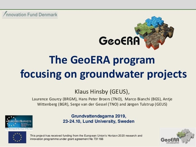 Klaus Hinsby The Geoera Program Focusing On Groundwater Projects