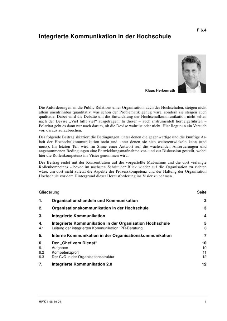 Klaus Herkenrath: Integrierte Kommunikation in der Hochschule