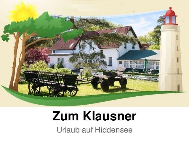 Zum Klausner Urlaub auf Hiddensee