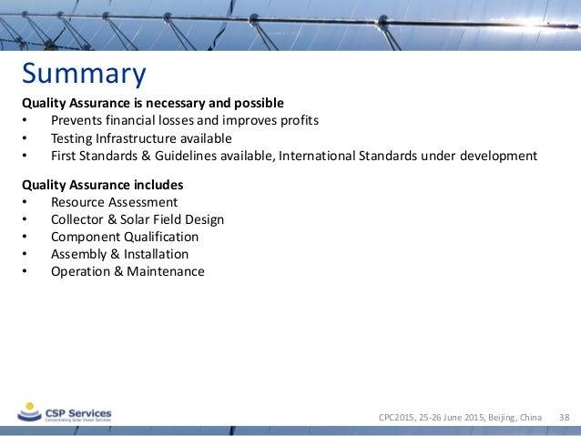 csp quality assurance standards pdf