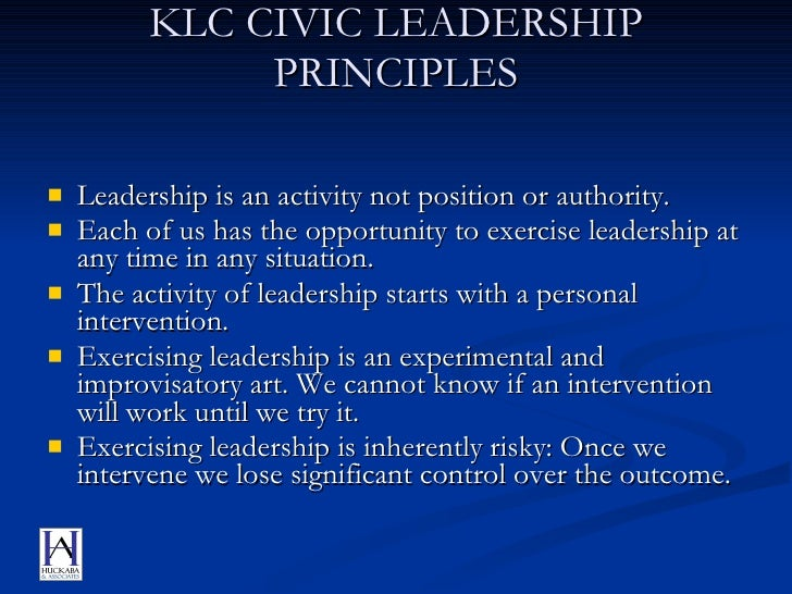 Key Leadership Competency profile and examples of effective and ineffective behaviours