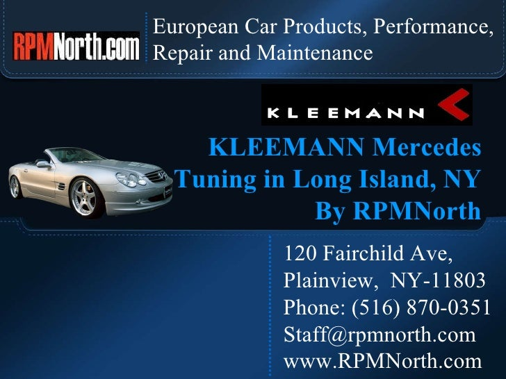 European Car Products, Performance,  Repair and Maintenance 120 Fairchild Ave,  Plainview,  NY-11803 Phone: (516) 870-0351...
