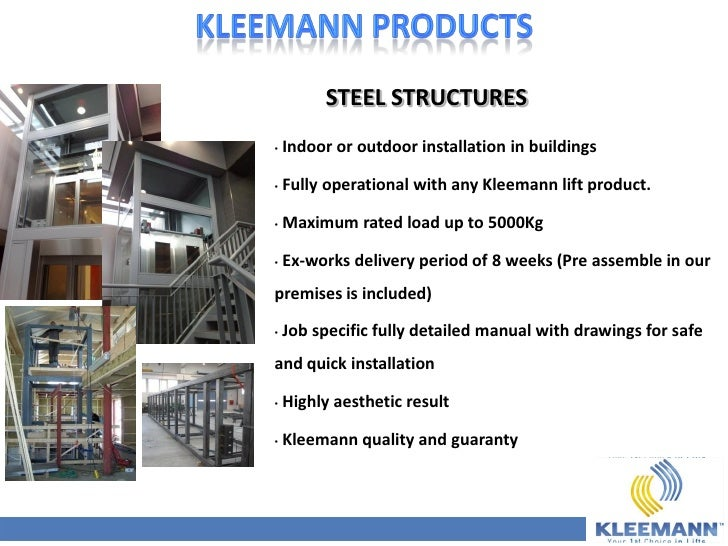 kleemann corporate presentation full october 2011 rh slideshare net Genie Lift Manuals Manual Lift Carts