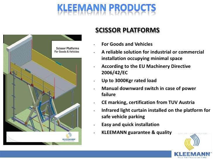 kleemann corporate presentation full october 2011 rh slideshare net Man Lift Manual Braun Wheelchair Lift Manual