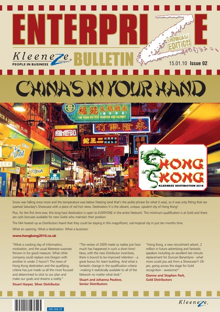 BULLETIN                                                              15.01.10 Issue 02      China's in your hand    Snow ...