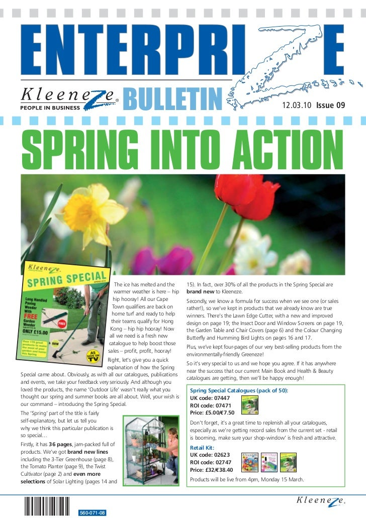 BULLETIN                                                               12.03.10 Issue 09     SPRING INTO ACTION           ...