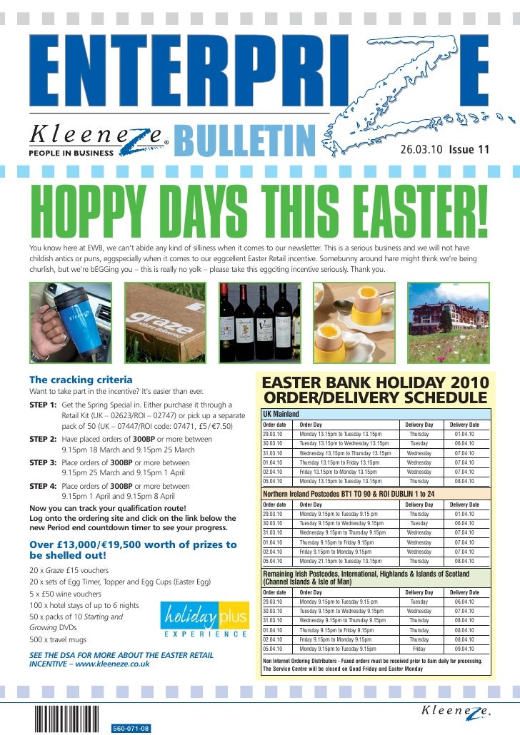 BULLETIN                                                                                 26.03.10 Issue 11     HOPPY DAYS ...