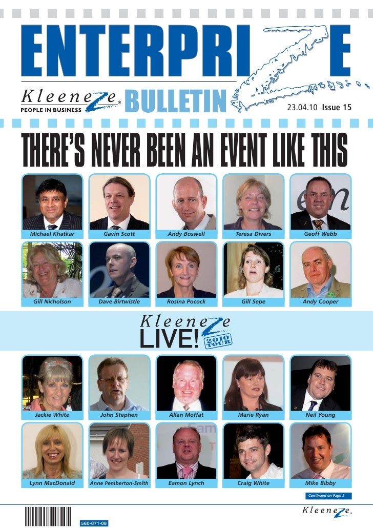 BULLETIN                                   23.04.10 Issue 15     THERE'S NEVER BEEN AN EVENT LIKE THIS  Michael Khatkar   ...