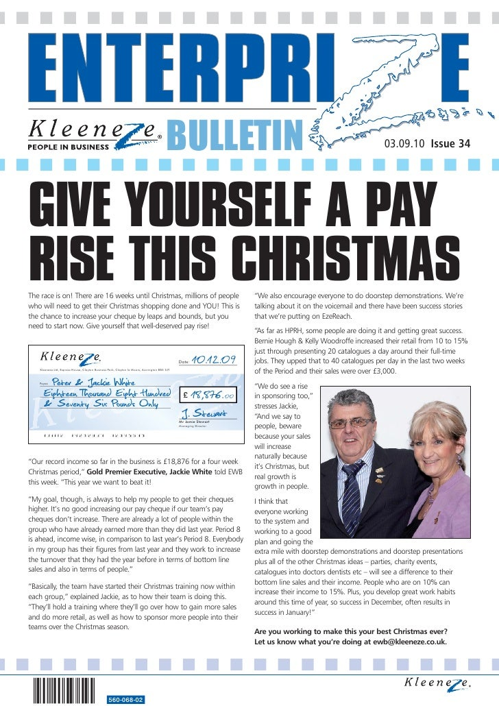 BULLETIN                                                              03.09.10 Issue 34     GIVE YOURSELF A PAY RISE THIS ...