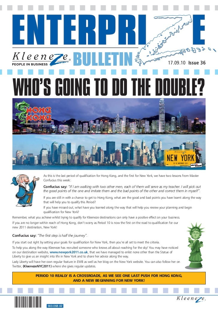 BULLETIN                                                                 17.09.10 Issue 36WHO'S GOING TO DO THE DOUBLE?   ...