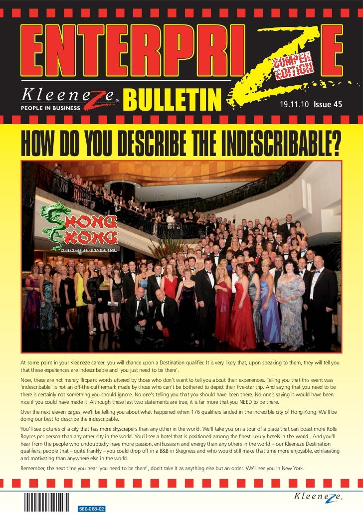 BULLETIN                                                                  19.11.10 Issue 45HOW DO YOU DESCRIBE THE INDESCR...