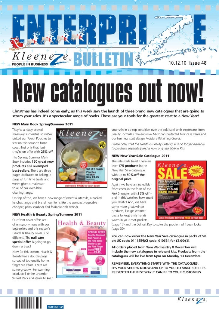 BULLETIN                                                           10.12.10 Issue 48New catalogues out now!Christmas has i...
