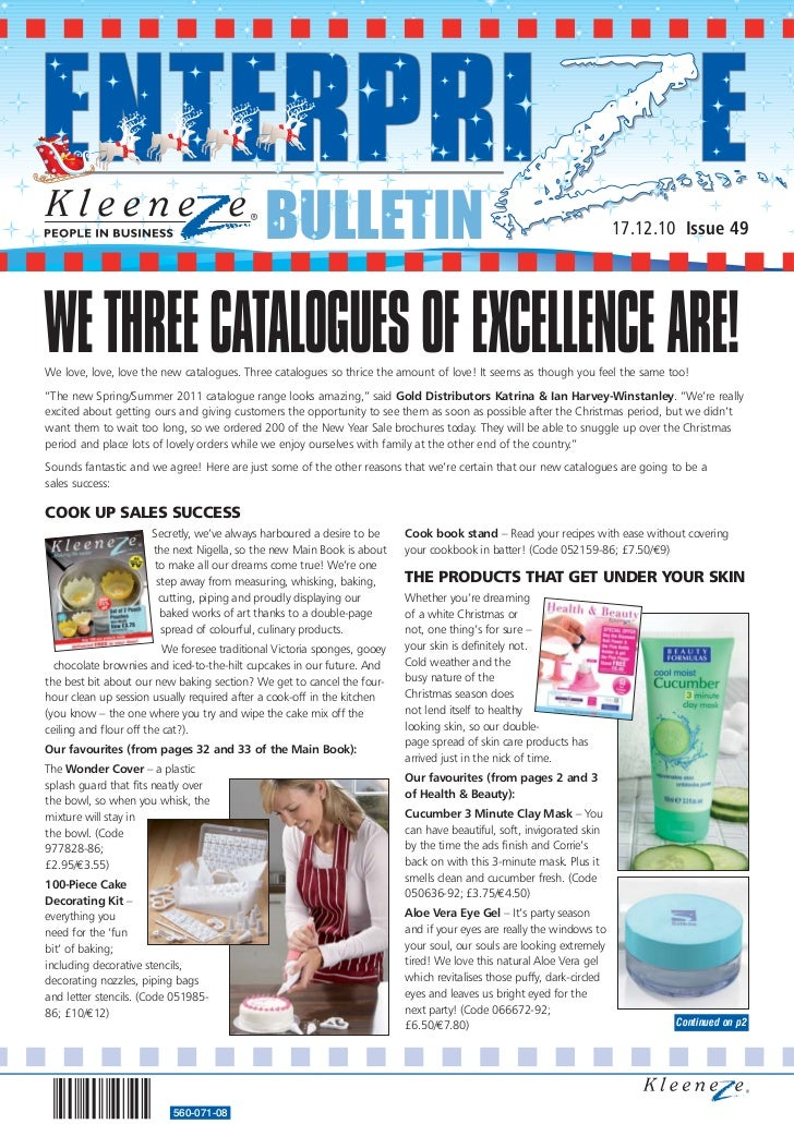 BULLETIN                                                                   17.12.10 Issue 49WE THREE CATALOGUES OF EXCELLE...