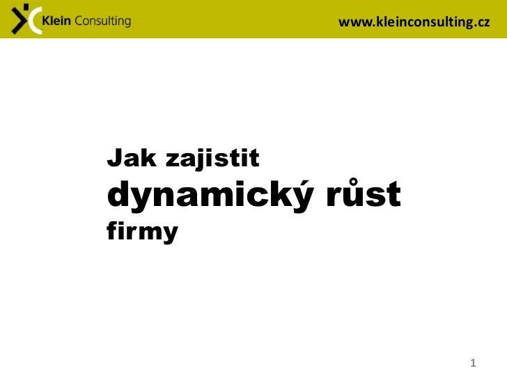 www.kleinconsulting.czJak zajistitdynamický růstfirmy                                  1