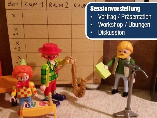Sessionvorstellung • Vortrag / Präsentation • Workshop / Übungen • Diskussion Sessionvorstellung • Vortrag / Präsentation ...