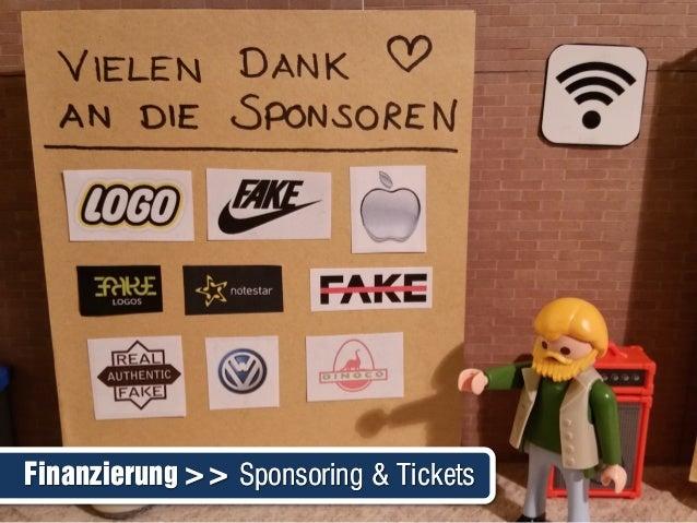 Finanzierung >> Sponsoring & TicketsFinanzierung >> Sponsoring & Tickets
